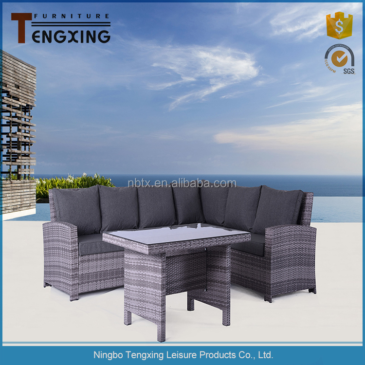 Comfortable Cheap poly luxury outdoor patio furniture