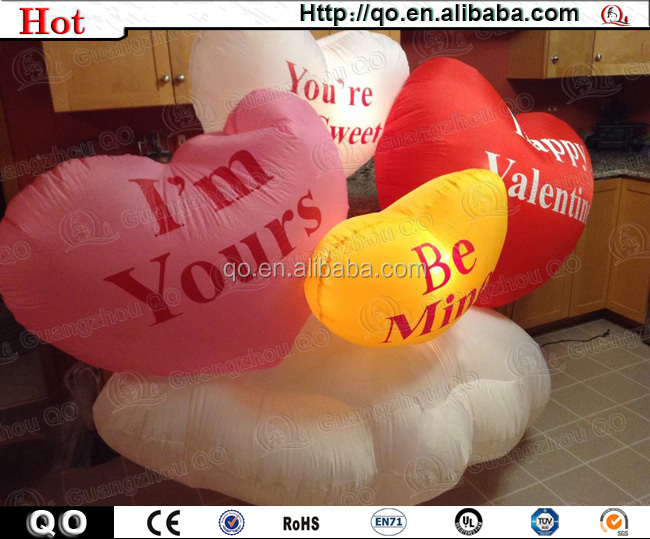 Best price outdoor inflatable valentine decoration for sale
