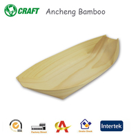 Pirate ship style disposable Kitchenware wooden boat for restaurant