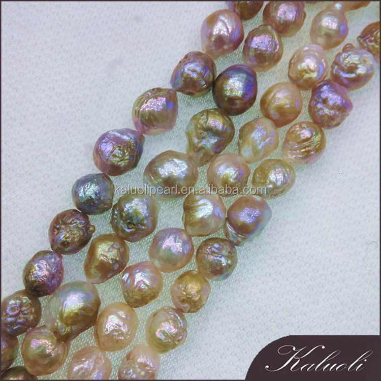 Wholesale 11-13 mm A multi-color furrow edison pearls string