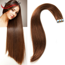 High quality 6a remy Brazilian human hair double drawn two tone ombre stick tape hair extension