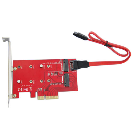 Newest PCI-E X4 to NGFF SATA Adapter /PCI Express to NGFF SSD Converter