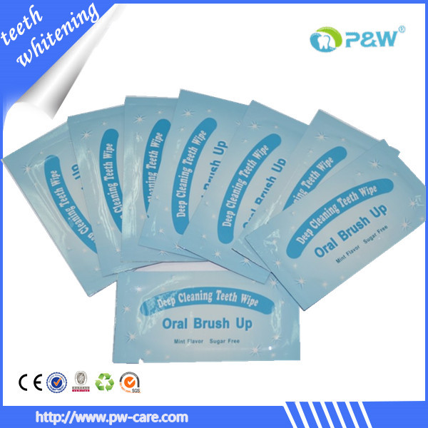 2015 Finger teeth whitening wipes, home use