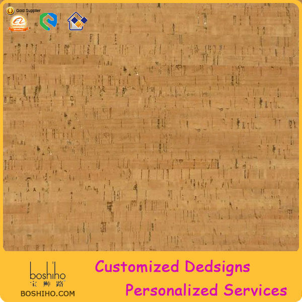 Boshiho Nuture Eco-friendly Cork Fabric Material for Purse Wallpapers for Interior Decoration