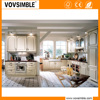 VOVSIMBLE Modern design MDF high gloss white lacquer finish kitchen cabinets