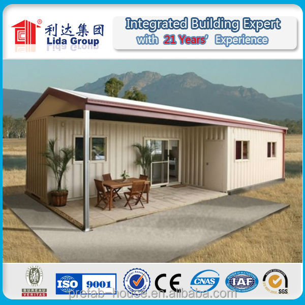 For cold area campsite in Mongolia excellent insulation effect container house