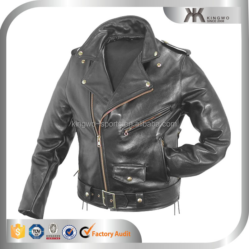 economic stylish autumn winter leather jacket for men