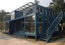 Prebuilt container house glass wall show room made in China