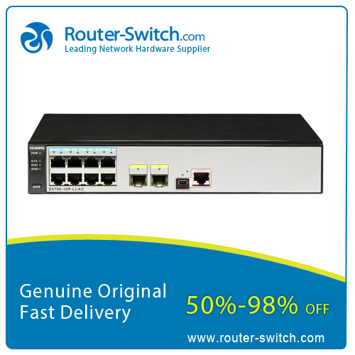 Huawei Quidway S5700 Series Switch 8 port Gigabit Ethernet Layer 3 Network Switch S5700-10P-LI-AC