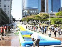 Crazy green single lane 1000 ft slip n slide inflatable slide the city for kids BY-STC-084