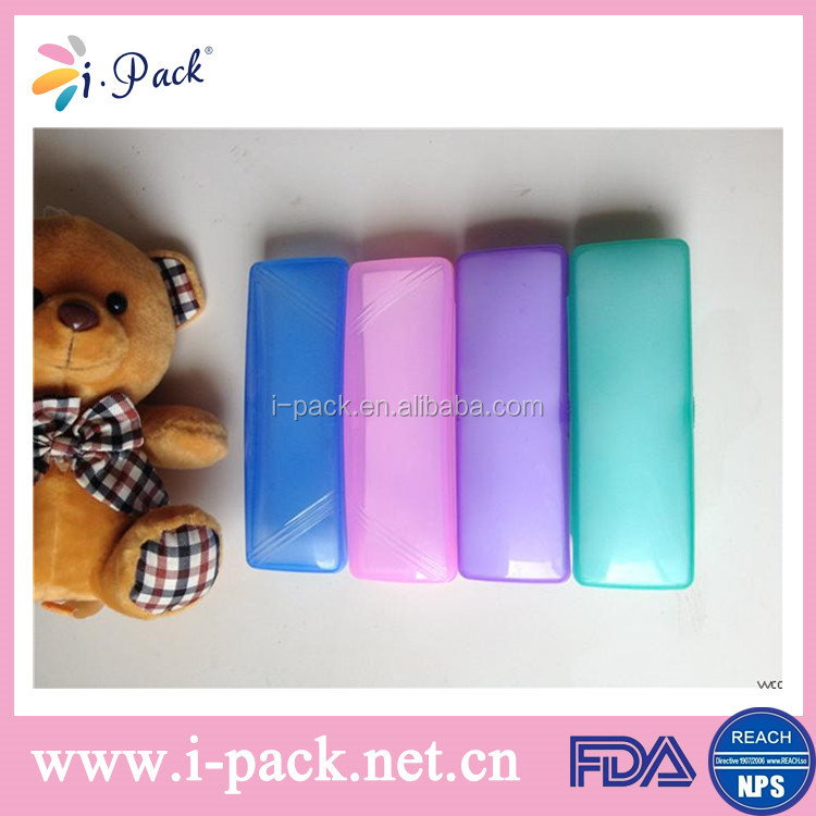 Candy green color plastic carrying case, pp material plastic eyeglasses case, lightweight small plastic case