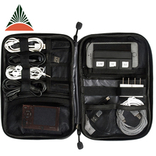 New Accessories Nylon Mens Travel USB Cable Organizer Bag For Electronic