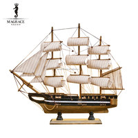 Wholesale wooden ship model crafts for gift