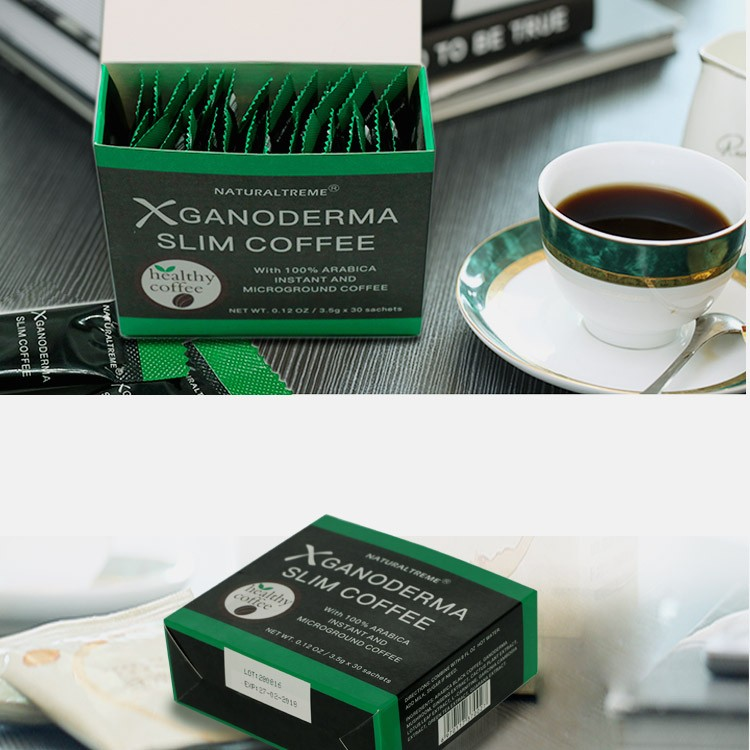 FDA approved Arabica Black Lingzhi 3 in 1 Gano Slim Coffee