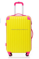 2015 lightweight abs and pc trolley case /luggage wholesale