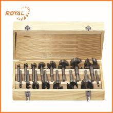 16pcs wood hinges bit set with wooden box