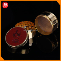 4 layers OEM 50mm Golden smoking cigarette dry herbal metal grinder