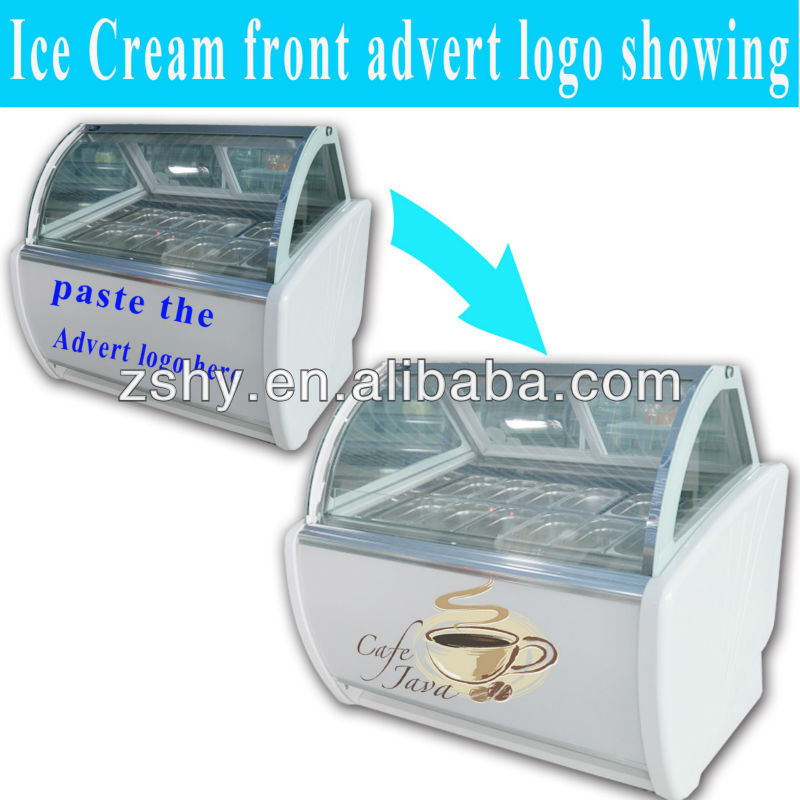 Hard Ice Cream display Freezer with -22 Degree