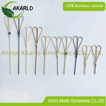 bamboo looped heart picks diaposable bamboo picks for fruits