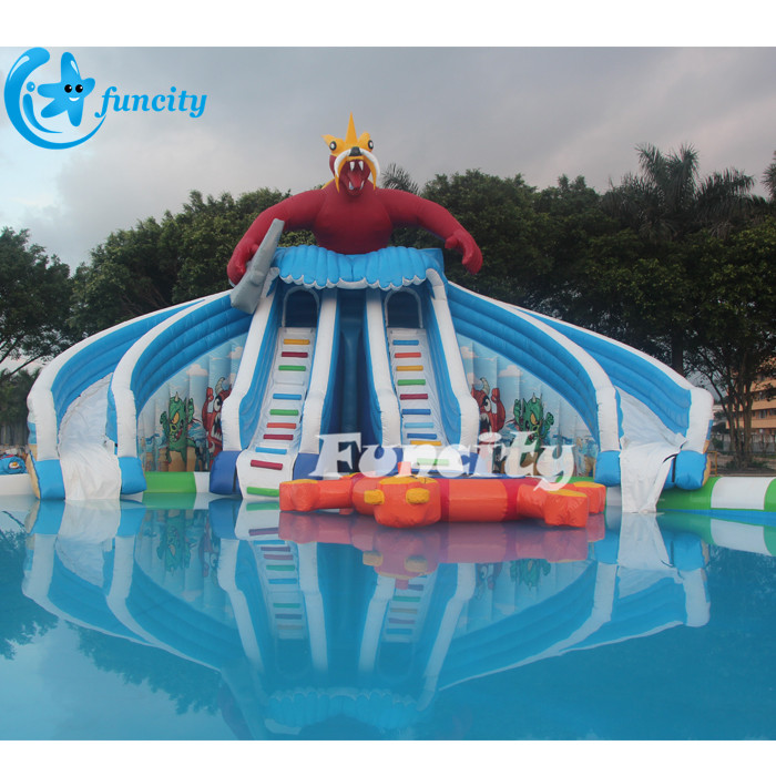 Dragon Inflatable Pool Slide, Hot Sale Inflatable Water Park Slides Game