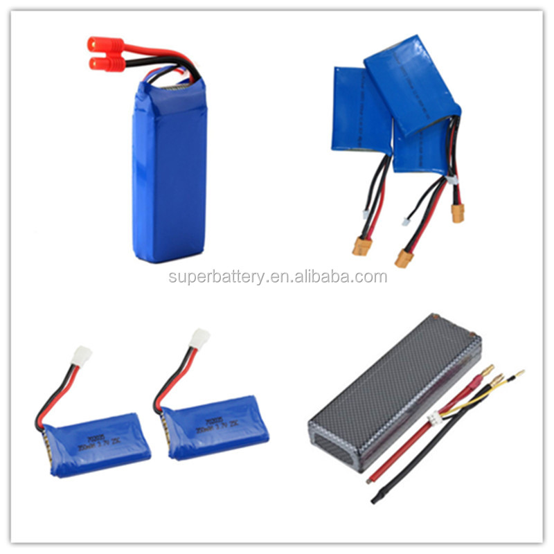 RC lithium polymer rechargeable Battery 7.4V burst rate 70C 5000mah