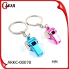 ODM Custom Laser Metal Keychain Color Promotional Whistle Keychain