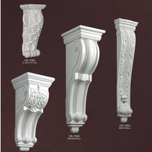 Hot Ornaments High Density Beautiful Decorative PU polyurethane beams animal wood corbel