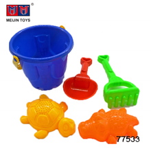 cheap colorful sand mold plastic beach bucket toys for sale