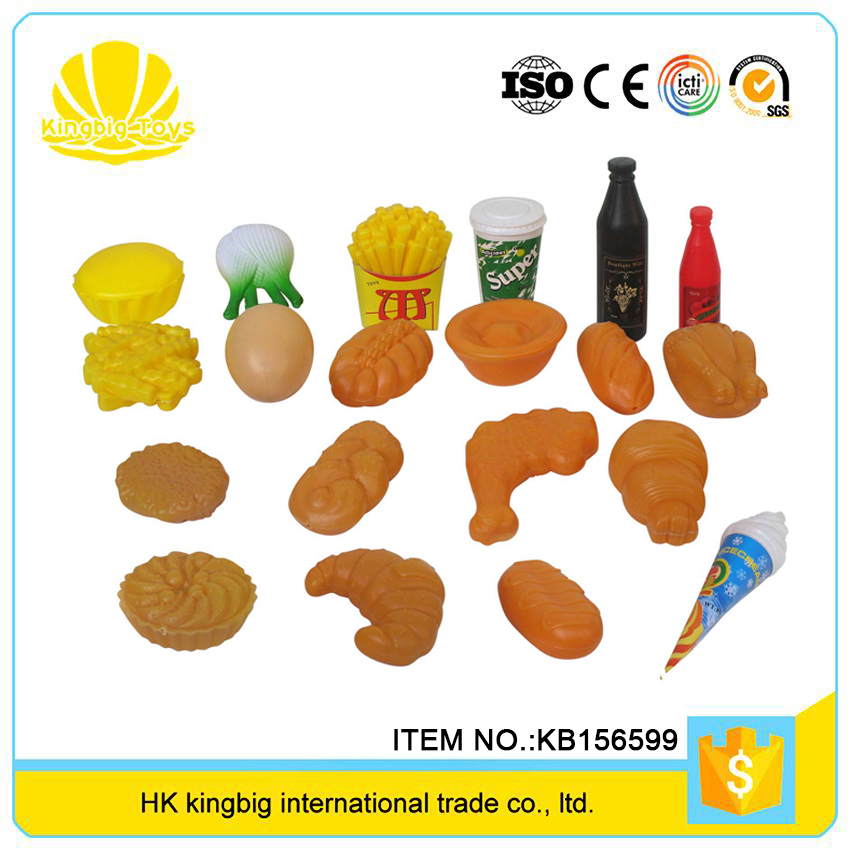best gift cheap popular fast food set play kitchen wooden for hot sale