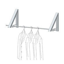 Easy-Installation Folding Wall Mounted Clothes Drying Rack With Rod