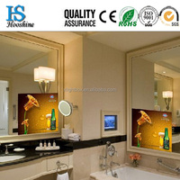 2015 Hot Sale Bathroom Advertising Magic LED Backlit Mirror , Wall Mounted , 4,6,8 Posters Display for Options !