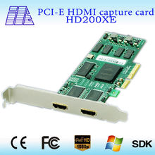 HDMI 2 Channel Video Capture PCI-E Card ,simultaneously capture 2 channels.