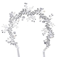 2019 Latest Design Crystal Pearl Head Wedding Hair Accessories Bridal Flowers Hair band