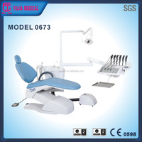 Hot sale dental unit dental chair unit with down hand instrument tray China factory produce