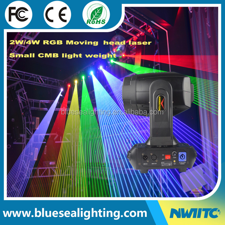 Factory price bar disco dj stage 2w rgb beam moving head laser light