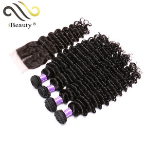 thick strand hair extension top unprocessed Brazilian virgin deep wave hair extension
