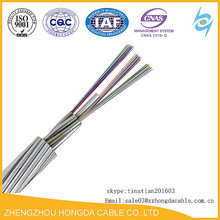 2 4 6 12 48 Core OPGW Aluminium Tube Cable Shield Wire OPGW