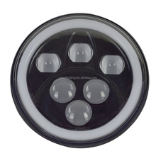 LED driving lights 7 inch round with hi lo beam and ring 7inch led head lamps for G500 G550 6000k-7000k 12v 60w