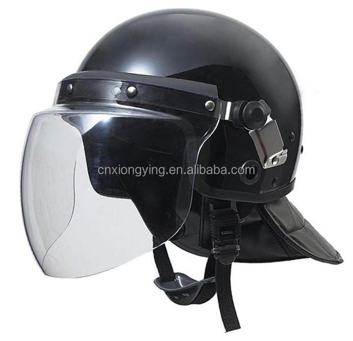 round shell Waterproof Anti-Riot Helmet with fencing shield FBK-5