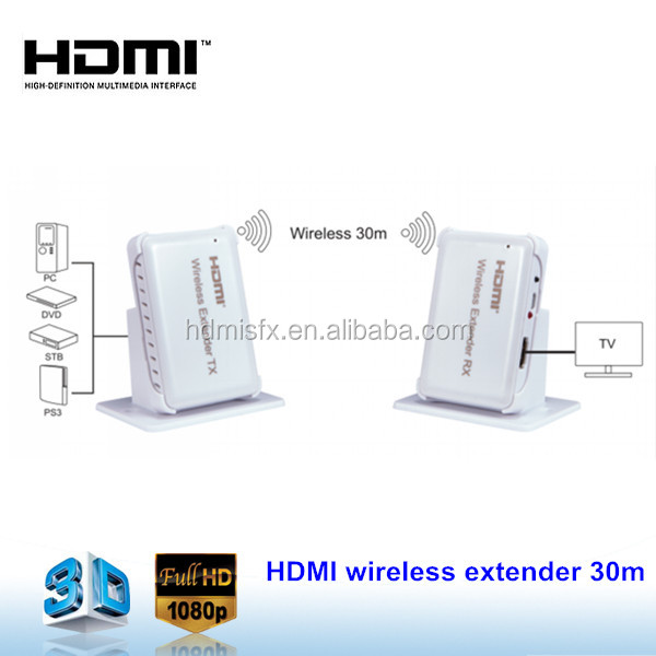 Newest Wireless Extender!!! 30m Wireless HI-Def audio video HDMI Extender with IR Remote
