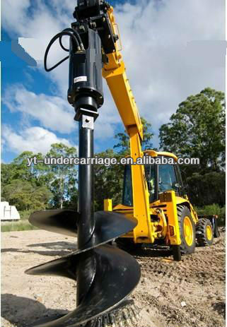Auger Drive Head with 1.5m Auger for JCB 3CX