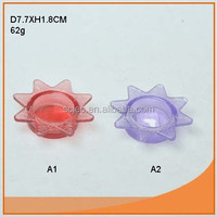 Nice flower shape glass candle holder insert with fast delivery