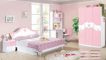 Best sale competitive price bedroom furniture colorful princess kids child bed with low price