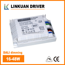 200-240VAC 45W 1000ma Constant Current Dali dimming led driver for led Panel lights