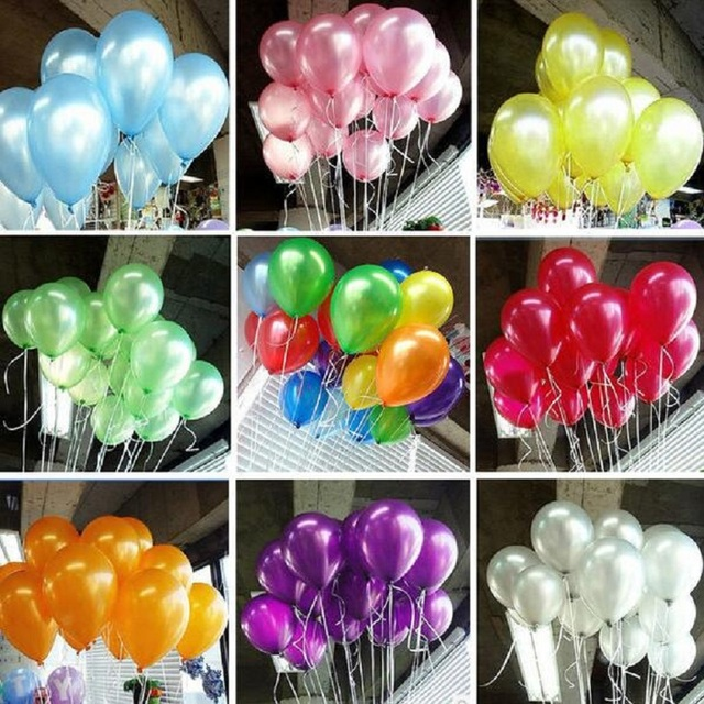 "HOT 100pcs/pack 10inch1.2g Latex balloons Helium Thickening Pearl balloons Wedding Party Birthday child toys gifts 10"" Globos"