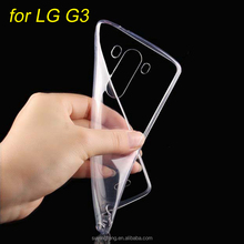 Phone Case for LG G3 Ultra Thin Slim Crystal Clear Transparent Soft TPU Back Cover for LG G3 D857 D855