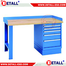 wood workbench lighting beech wood top durable
