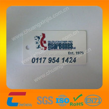 irregular size pvc plastic car card with window punched