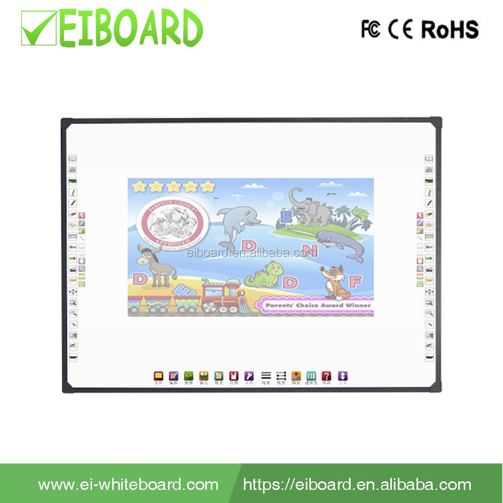 Cheap touch screen 82 inch screen optical interactive Finger-touch white board for office
