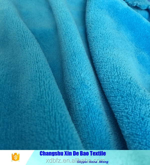 China supply blue fabric coral fleece